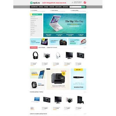 Компьютерный сайт и магазин на уникальном домене