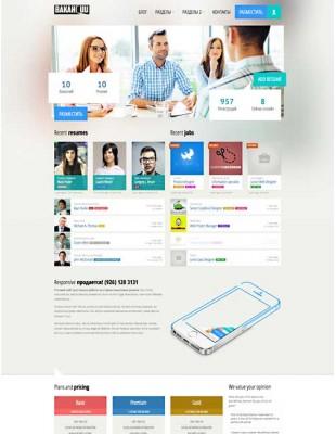 Домен и готовый сайт о поиске работы